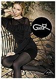 Gatta Lorien 04 - 40den - gemusterte matte schwarze Strumpfhose mit trendigem Netz Design - Größe L - Nero