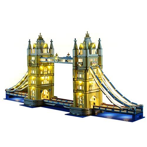 YOU339 LED Licht Set für Lego London Tower Bridge 10214, USB betriebenes LED Licht, Konstruktion Baustein Building Block Zubehörsatz (nur LED im Lieferumfang enthalten)
