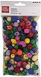 KnorrPrandell Gütermann 6039995- Perle di Legno, 150 g, Colori Assortiti