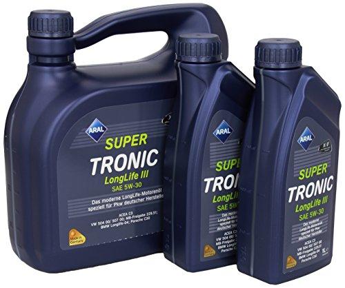 4-taniche-litri-2-litro-aral-super-tronic-longlife-iii-5w-30-5w30-olio-no-6-x-1-bottiglie-notare