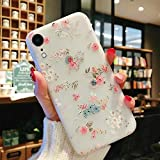 Enflamo Soft TPU 3D Relief Flower Printed Phone Case for iPhone XR