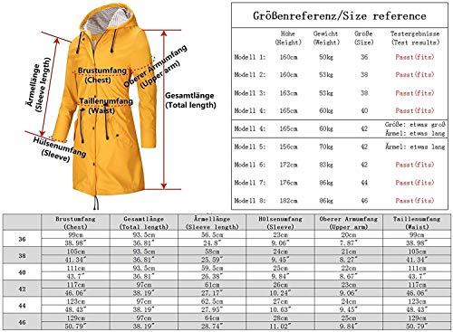 SWAMPLAND Regenjacke Damen PU Windbreaker Mit Kapuze Wasserdicht Softshelljacke Wetterfest Übergangsjacke Regenmantel