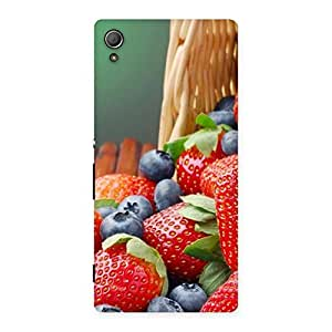 Special Delicious Straberry Multicolor Back Case Cover for Xperia Z3 Plus