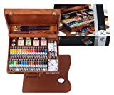 VAN GOGH OIL PAINT SET - ARTISTS' WOODEN BOX SUPERIOR