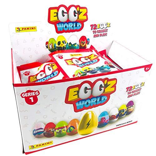 Hay 72 Egg'z para coleccionar. Todos son molones, se mantienen en pie y te permiten disfrutar de un montón de juegos. Llévalos contigo siempre que quieras e intercámbialos con tus amigos. ¡Únete a la invasión de los Egg'z!