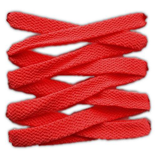 Schnürsenkel Sport flach 125cm Hochwertige Qualität (rot) (Flache Sport-schnürsenkel)