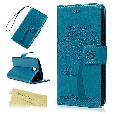 Galaxy J5 2017 Case /J530 Case - Mavis's Diary Wallet Case PU Leather Flip Cover Chic Owl Couple Tree Emobssed with Inner Rubber Back Holder Magnetic Clip & ID/Credit Card Holders/Stand for Samsung J530FD Galaxy J5 (2017) -