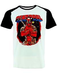 Deadpool Marvel Crossed Arms Camiseta Oficial Con Licencia Película
