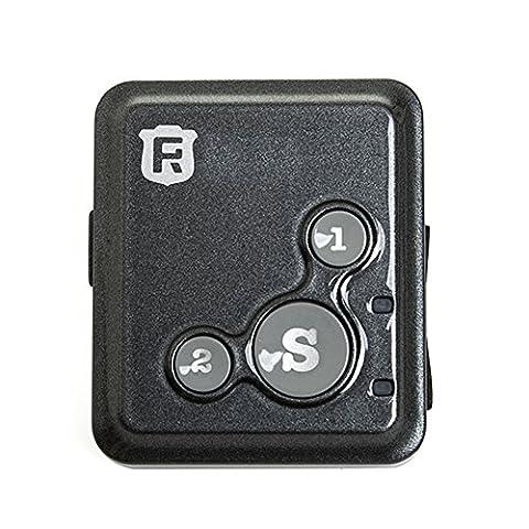 Mini Portable d'extérieur de sécurité GPS Locator Bracelet montre SOS personnelle anti-perte G/M² appareil de suivi en temps réel tracker avec tour de cou pour enfants aux personnes âgées Locator Rf-v16, Black with package