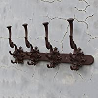 LWJJYMJ Coat Hooks Coat Hook Wall Rack Wall Mounted Unit Open Shelf Metal Hooks Bathroom Hallway Living Room Kitchen Storage