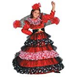 Dress Up America Mädchen Flamenco Tänzerin Kostüm