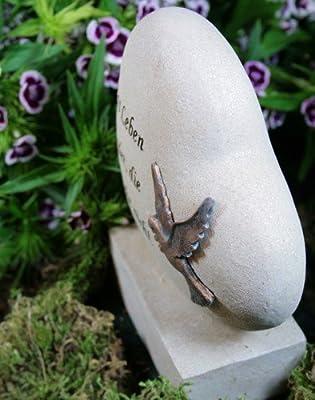 """Grabherz mit Taube """"Das Leben endet, die Liebe nicht"""" von friedhofskerze.de - Du und dein Garten"""