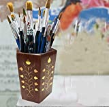 Wooden Pen Stand,, Perfect for Office & Home Desk to Organize your pens, pencil,Gift for Christmas or Birthday