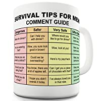 TWISTED ENVY Survival Tips For Men Ceramic Funny Mug
