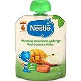 NESTLÉ Bolsita de puré de frutas, variedad Manzana Zanahoria y Mango, para bebés a partir de 6 meses