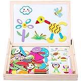 akooya Magnetic Puzzle bebé bocetos de madera juguete educativo regalo