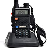 Mengshen Baofeng UV-5R Talkie Walkie/Walkie-Talkie Interphone ricetrasmettitore Dual Band VHF/UHF 136-174/400-480 MHz FM con Cuffie