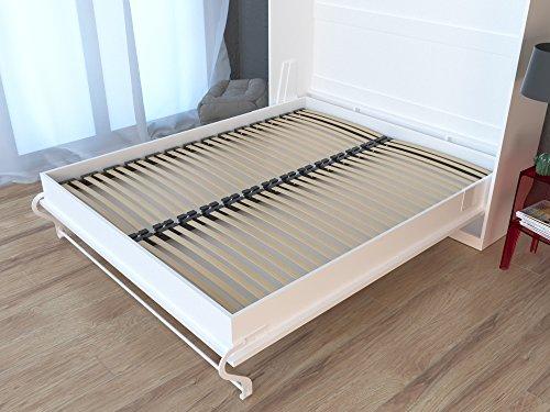 Schrankbett Smartbett Murphy Bed Vertikal 90x200cm Gästebett Weiß - 7