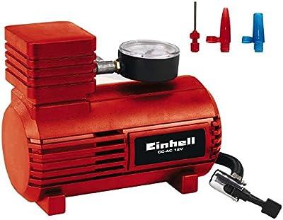 Einhell cc-ac 12V Compresor para coche, tensión 12V, presión 18Bar, Rojo