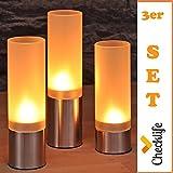 Checklife 903023 Teelicht-Set 3-tlg Stimmungsleuchten Windlichter