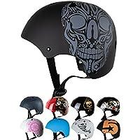 Skullcap® Casco BMX - Casco Skate - Casco Bici, Talla: S (53 – 55 cm) Casco Bicicleta niño, Design: Ace of Spades