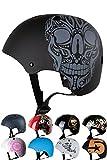 Skullcap® Casco BMX - Casco Skate - Casco Bici, Taglia S (53 - 55 cm) Casco per Bambini, Design: Skull