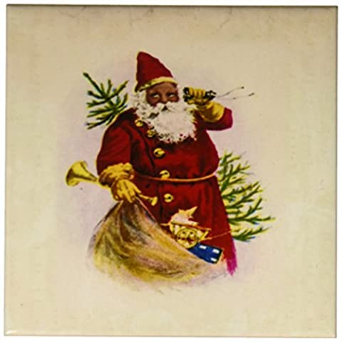 CST _ 62169Florene Holiday Graphic Illustration of African American Santa