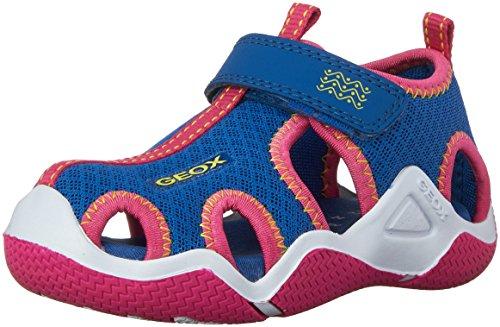 Geox J WADER GIRL A, Mädchen Sneakers, Mehrfarbig (ROYAL/FUCHSIAC4042), 31 EU