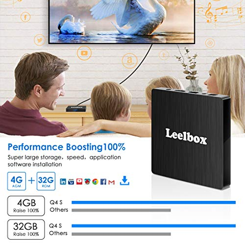 Android 8 1 TV Box, Android Box 4GB RAM 32GB ROM, Leelbox