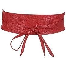 dd5950f52fa7 Amazon.fr   Ceinture Noeud papillon -Elastique - Noir- Taille... - Rouge