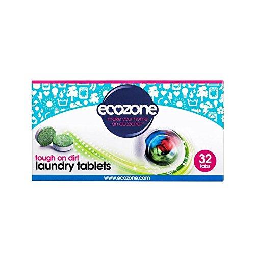 ecozone-bio-pastillas-de-lavandera-32-por-paquete-paquete-de-4