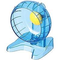 SatisPet & Nano criceto Siriano ruota per esercizi, grande, blu–antiscivolo, superficie di corsa per scoiattoli e topi, ultra silenzioso & tail design sicuro, favorisce l' attività fisica