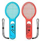 niceco Twin Pack Tennisschläger Controller, für Mario Tennis Aces Spiel, Tennisschläger für Nintendo Schalter Joy-Con Controller
