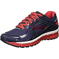 Brooks Adrenaline GTS 16, Zapatillas de Running para Hombre, (Peacoat/High Risk Red/China Blue), 40 EU