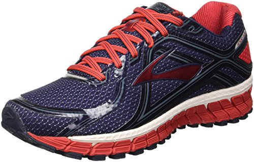 Brooks Adrenaline Gts 16, Chaussures de Sport Homme Multicolore (Peacoat/High Risk Red/China Blue)