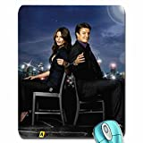 Entertainment nathan fillion stana katic castle tv series 2363x3150 wallpaper mouse pad computer mousepad by Yellow pad