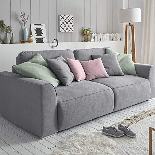 Riess Ambiente Big Sofa Weekend grau Schlaffunktion mit Bettkasten Schlafsofa Schlafcouch Couch