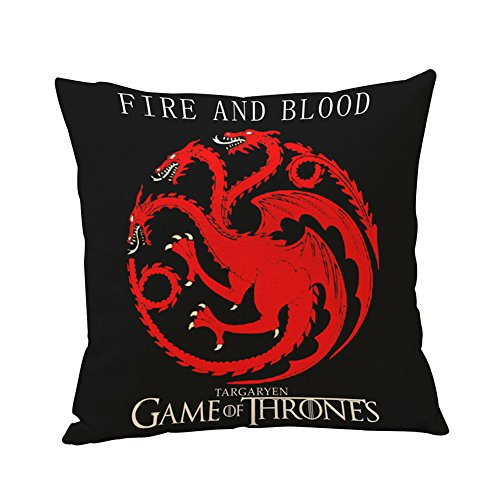 Globeagle Game of Thrones House Sigils Family Crest Pillow case Targaryen