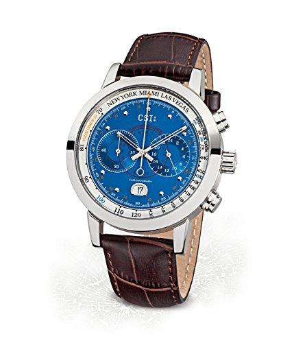 Kronsegler CSI Herren Chronograph Edelstahl Stahl-Blau KS787st-bla