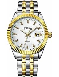 smalody Fashion Uhren Herren Stahl wasserdicht Datum Casual Armbanduhr Analog Business Quarz Armbanduhren