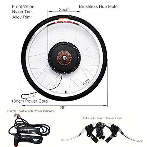 "Oukaning, kit di conversione per bici elettrica per ruota posteriore da 26"", motore a mozzo da bici elettrica 48V, 1000W"