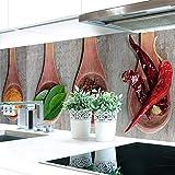 Küchenrückwand Kräuter Löffel Premium Hart-PVC 0,4 mm selbstklebend 280x80cm