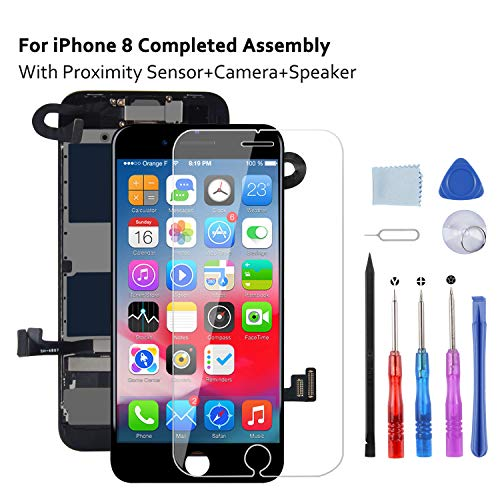Beefix LCD Display Bildschirm Kompatibel mit iPhone 8 Display Schwarz 4,7