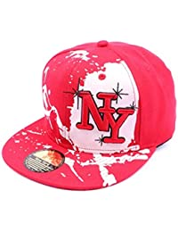 Snapback NY Rouge et blanche façon Tag - Mixte