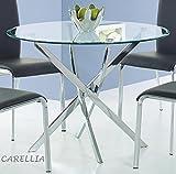 CARELLIA Tisch Hat Essen rund Ø: 100cm Farbe: Transparent