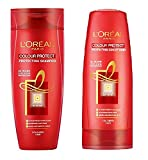 #10: Loreal 30 Wash Colour Protect Shampoo&Conditioner (PACK OF 2) with Ayur Product in Combo