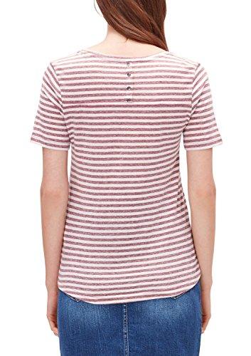s.Oliver 14.608.32.6020, T-Shirt Femme Rot (winter berry stripes 45G5)