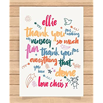 Personalised Presents Gifts For Nursery Teachers End Of Term
