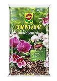 Compo SANA 2 x 5 L Orchideenerde mit 8 Wochen Dünger für alle Orchideenarten, Kultursubstrat aus Pinienrinde, (Orchideenerde, 10 L)