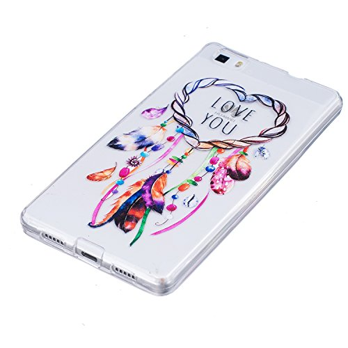 Coque iPhone 6 iPhone 6S, AllDo Coque TPU Silicone pour iPhone 6 iPhone 6S Etui Souple Flexible Gel Rubber Case Smooth Soft Cover Housse Ultra Mince Etui Poids Léger Lisse Couverture Anti Rayure Coque Attrapeur de Rêves